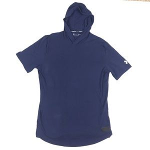 Under Armour UA Baseline Short Sleeve Hoodie Blue
